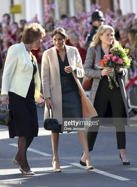 Meghan Duchess of Sussex makes an official visit to Sussex with her assistant Amy Pickerill on October 3 2018 in Chichester United Kingdom The Duke...