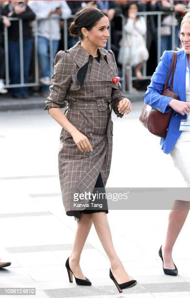 Meghan Duchess of Sussex meets the public on a walkabout in Pukeahu National War Memorial Park on October 28 2018 in Wellington New Zealand The Duke...