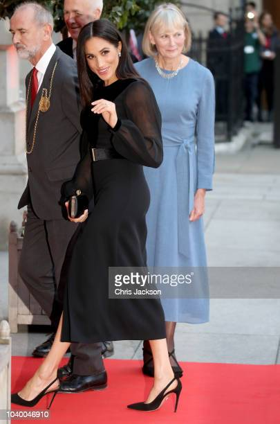 Meghan Duchess of Sussex departs after opening 'Oceania' at Royal Academy of Arts on September 25 2018 in London England 'Oceania' is the firstever...