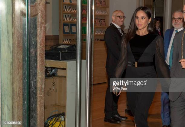 Meghan Duchess of Sussex opens 'Oceania' at Royal Academy of Arts on September 25 2018 in London England 'Oceania' is the firstever major survey of...