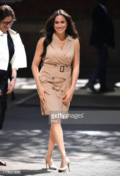 Meghan Duchess of Sussex Patron of the Association of Commonwealth Universities visits the University of Johannesburg on October 1 2019 in...
