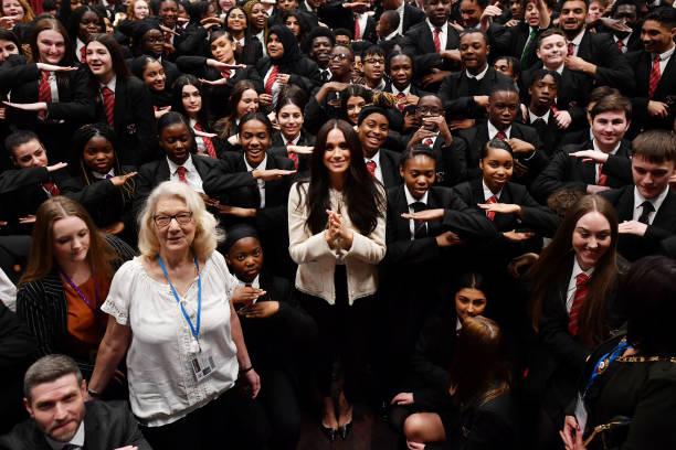 GBR: The Duchess Of Sussex Visits The Robert Clack Upper School In Dagenham