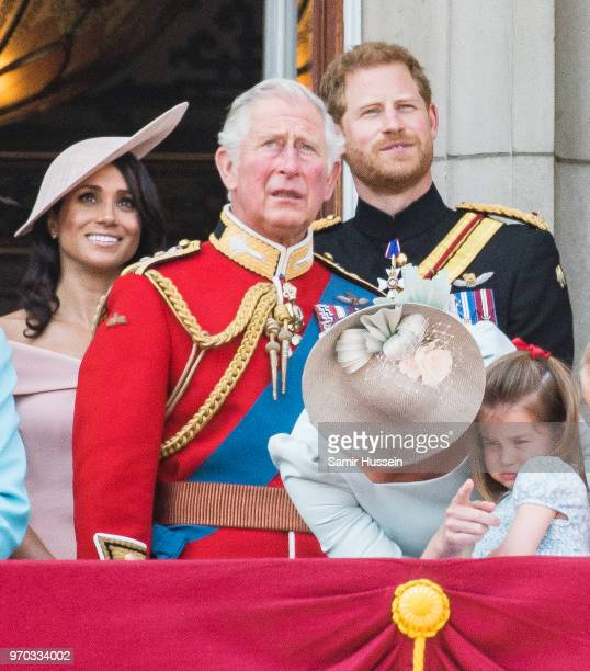 Meghan Duchess of Sussex Prince Charles Prince of Wales Prince Harry Duke of Sussex Catherine Duchess of Cambridge Princess Charlotte of Cambridge on...