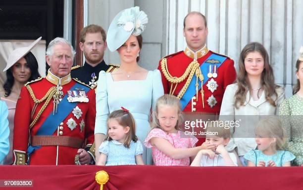 Meghan, Duchess of Sussex, Prince Charles, Prince of Wales, Prince Harry, Duke of Sussex, Catherine, Duchess of Cambridge, Princess Charlotte of...