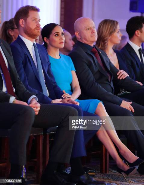 Meghan, Duchess of Sussex, Prince Harry, Duke of Sussex and Ross Kemp attend the annual Endeavour Fund Awards at Mansion House on March 5, 2020 in...