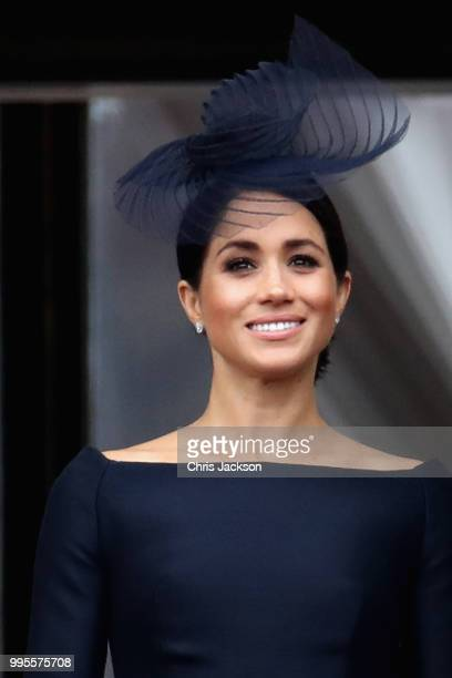 LONDON ENGLAND JULY Meghan Duchess of Sussex Prince Harry Duke of Sussex Prince William Duke of Cambridge and Catherine Duchess of Cambridge watch...