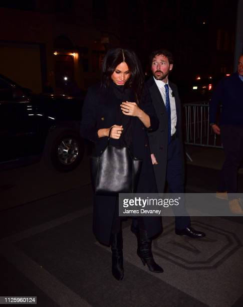 Meghan Duchess of Sussex seen arriving to The Mark Hotel on February 19 2019 in New York City