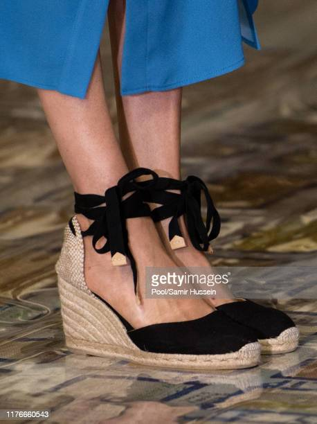 Meghan Duchess of Sussex shoe detail visits District 6 Museum on September 23 2019 in Cape Town South Africa