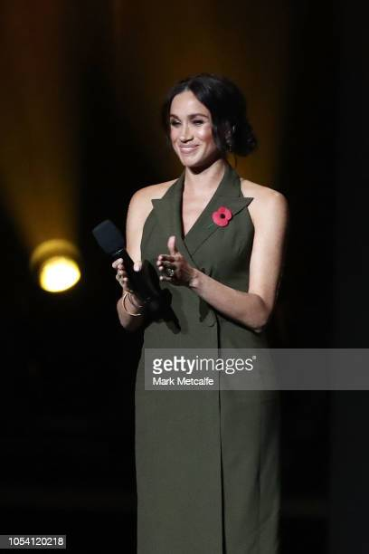 Meghan Duchess of Sussex speaks during the 2018 Invictus Games Closing Ceremony at Qudos Bank Arena on October 27 2018 in Sydney Australia