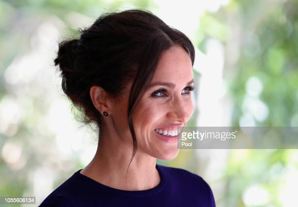 Meghan, Duchess of Sussex visit the National Kiwi Hatchery at Rainbow Springs on October 31, 2018 in Rotorua, New Zealand. The Duke and Duchess of...