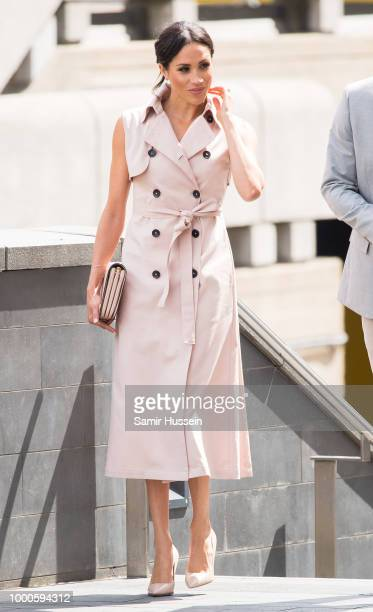 Meghan Duchess of Sussex visit The Nelson Mandela Centenary Exhibition at Southbank Centre on July 17 2018 in London England