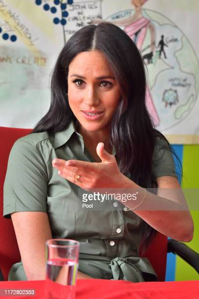 Meghan, Duchess of Sussex visits Action Aid to join discussions during the royal tour of South Africa on October 01, 2019 in Johannesburg, South...