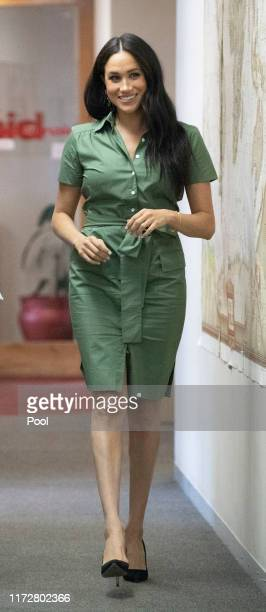 Meghan Duchess of Sussex visits Action Aid to join discussions during the royal tour of South Africa on October 01 2019 in Johannesburg South Africa