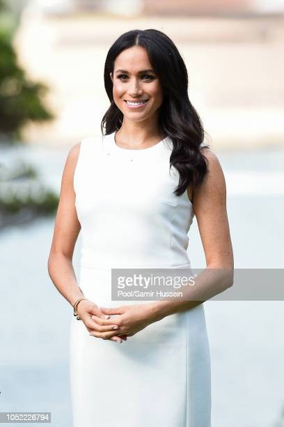 Meghan, Duchess of Sussex visits Admiralty House on October 16, 2018 in Sydney, Australia. The Duke and Duchess of Sussex are on their official...