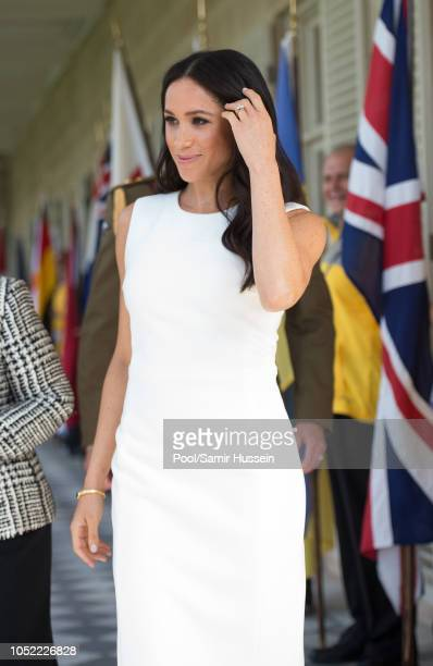 Meghan Duchess of Sussex visits Admiralty House on October 16 2018 in Sydney Australia The Duke and Duchess of Sussex are on their official 16day...