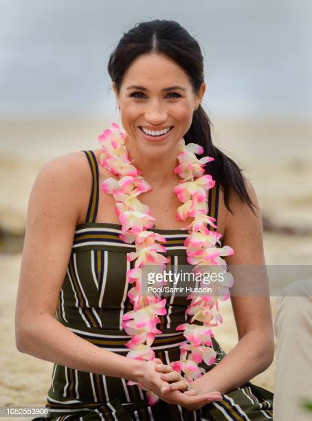 Meghan, Duchess of Sussex visits Bondi beach on October 19, 2018 in Sydney, Australia. The Duke and Duchess of Sussex are on their official 16-day...
