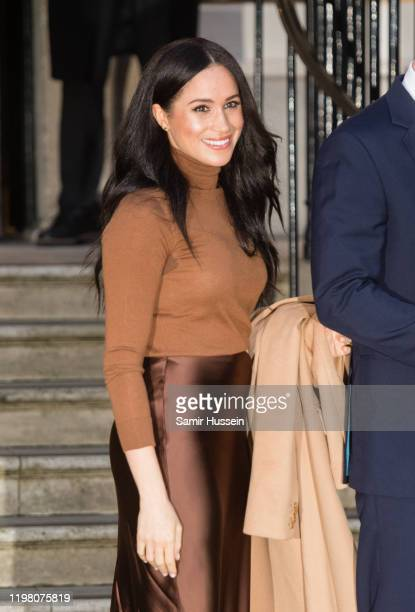 Meghan, Duchess of Sussex visits Canada House on January 07, 2020 in London, England.