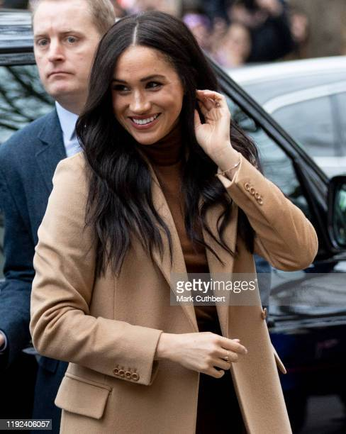 Meghan Duchess of Sussex visits Canada House to meet with HE Ms Janice Charette High Commissioner in Canada to the UK as well as staff to thank them...