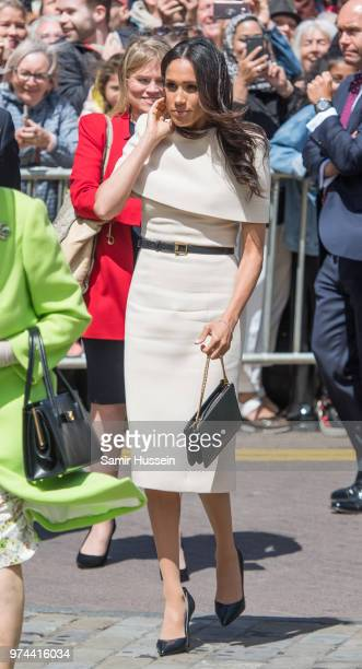 Meghan Duchess of Sussex visits Chester Town Hall on June 14 2018 in Chester England