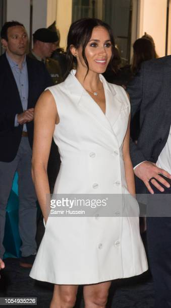 Meghan Duchess of Sussex visits Courtnay Creative for an event celebrating the city's thriving arts scene on October 29 2018 in Wellington New...