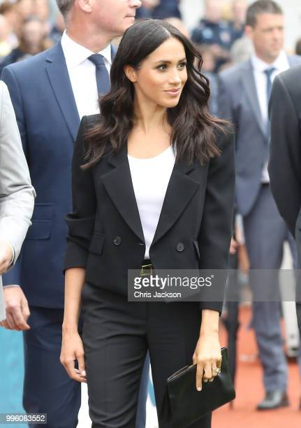 Meghan Duchess of Sussex visits Croke Park home of Ireland's largest sporting organisation the Gaelic Athletic Association with Prince Harry Duke of...