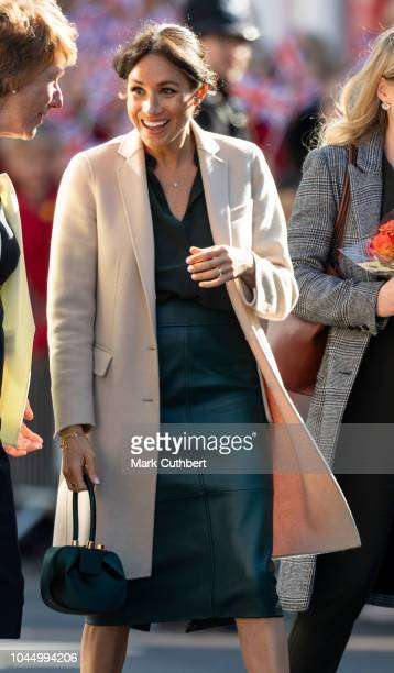 Meghan, Duchess of Sussex visits Edes House during an official visit to Sussex on October 3, 2018 in Chichester, United Kingdom. The Duke and Duchess...
