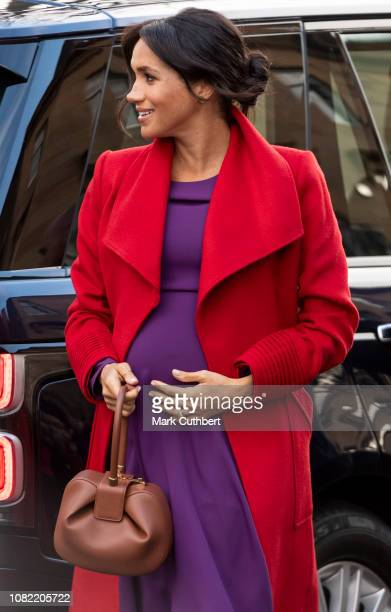 Meghan, Duchess of Sussex visits Hamilton Square to view a new sculpture erected in November to mark the 100th anniversary of Wilfred Owens death on...