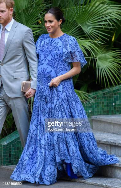 Meghan Duchess of Sussex visits King Mohammed VI of Morocco during an audience at his residence on February 25 2019 in Rabat Morocco