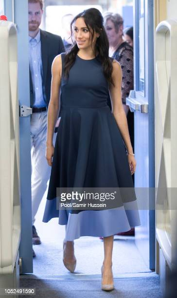 Meghan Duchess of Sussex visits Macarthur Girls High School on October 19 2018 in Sydney Australia The Duke and Duchess of Sussex are on their...