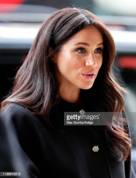 Meghan Duchess of Sussex visits New Zealand House to sign a book of condolence on behalf of The Royal Family following the recent terror attack which...