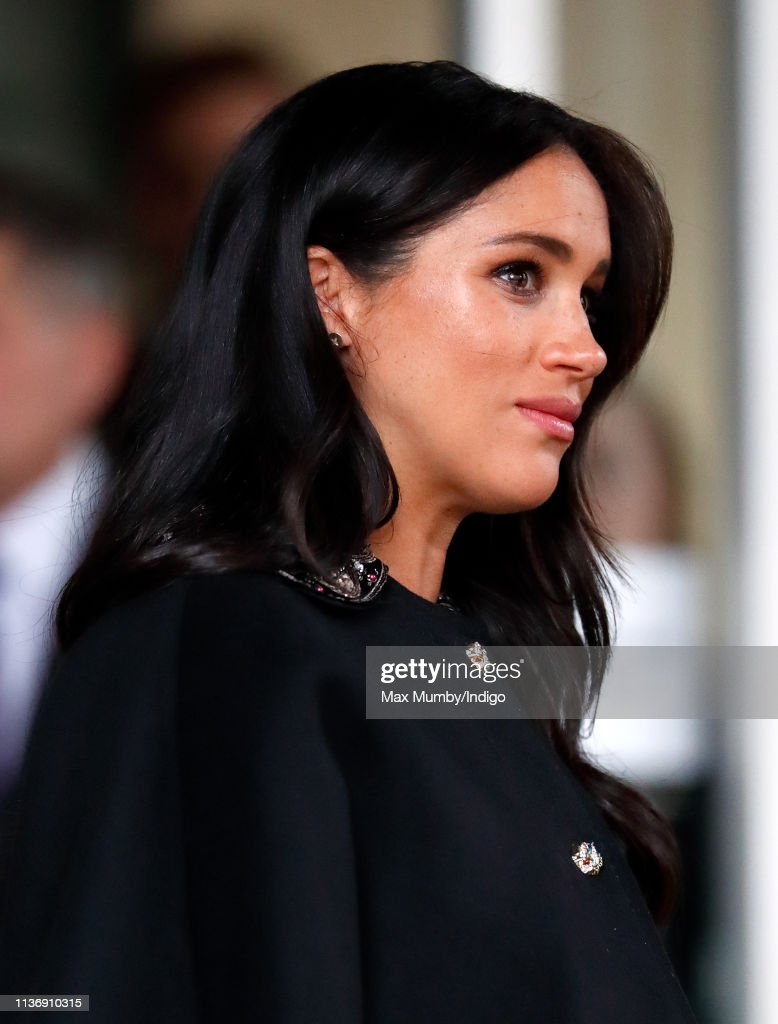 The Duke And Duchess Of Sussex Sign A Book Of Condolence At New Zealand House : News Photo