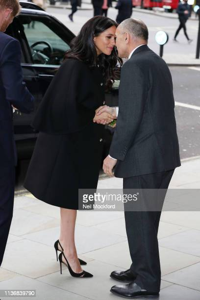 Meghan Duchess of Sussex visits New Zealand House to sign the book of condolence on behalf of the Royal Family on March 19 2019 in London England