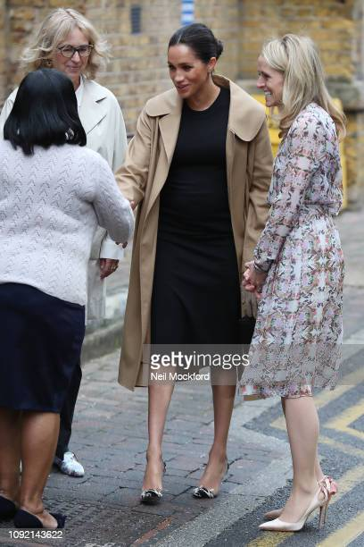 Meghan Duchess of Sussex visits Smart Works on January 10 2019 in London United Kingdom one of the four organisations which she has become Royal...
