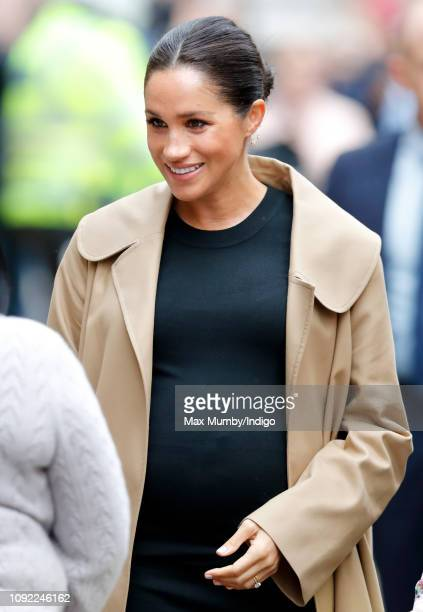 Meghan Duchess of Sussex visits Smart Works on January 10 2019 in London England Kensington Palace announced today that The Duchess of Sussex has...