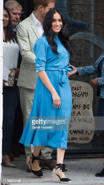 Meghan Duchess of Sussex visits the District 6 Museum and Homecoming Centre during their royal tour of South Africa on September 23 2019 in Cape Town...