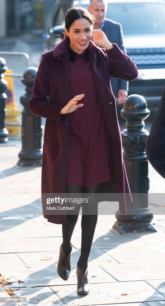 The Duchess Of Sussex Visits The Hubb Community Kitchen : News Photo