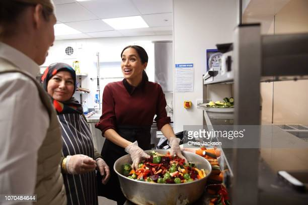 Meghan, Duchess of Sussex visits the Hubb Community Kitchen to see how funds raised by the 'Together: Our Community' Cookbook are making a difference...
