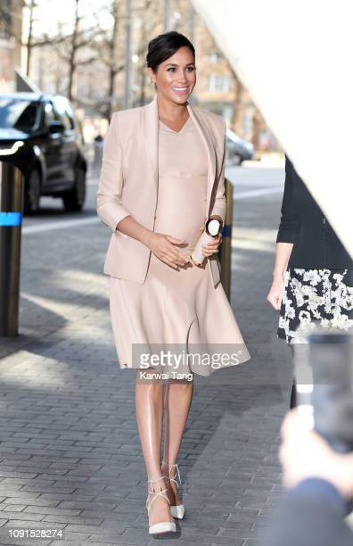 Meghan Duchess of Sussex visits The National Theatre on January 30 2019 in London England