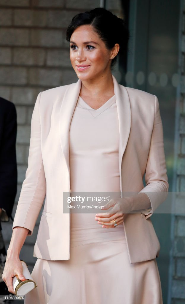 The Duchess Of Sussex Visits The National Theatre : News Photo