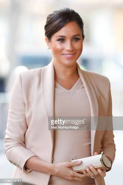 Meghan Duchess of Sussex visits The National Theatre on January 30 2019 in London England It was announced earlier this month that The Duchess would...