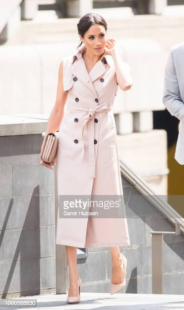 Meghan Duchess of Sussex visits The Nelson Mandela Centenary Exhibition at Southbank Centre on July 17 2018 in London England