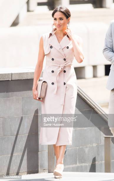 Meghan, Duchess of Sussex visits The Nelson Mandela Centenary Exhibition at Southbank Centre on July 17, 2018 in London, England.