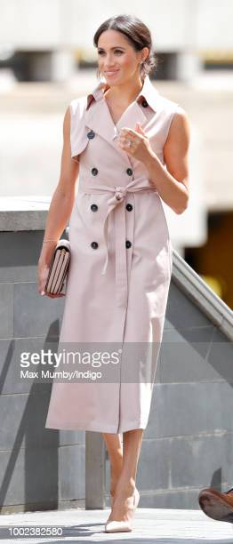 Meghan, Duchess of Sussex visits The Nelson Mandela Centenary Exhibition at the Southbank Centre on July 17, 2018 in London, England. The exhibition...