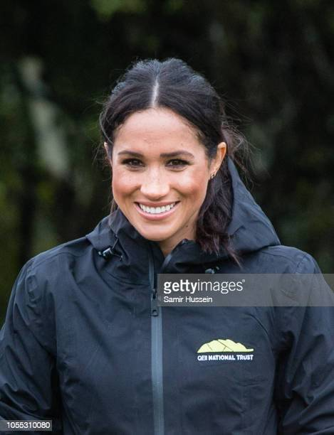 Meghan Duchess of Sussex visits the North Shore to dedicate a 20hectare area of native bush to The Queen's Commonwealth Canopy on October 30 2018 in...