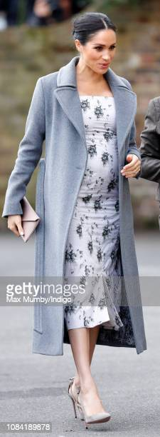 Meghan Duchess of Sussex visits the Royal Variety Charity's Brinsworth House on December 18 2018 in Twickenham England Brinsworth House is a...