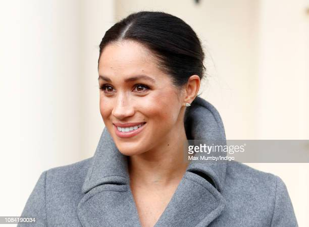 Meghan, Duchess of Sussex visits the Royal Variety Charity's Brinsworth House on December 18, 2018 in Twickenham, England. Brinsworth House is a...
