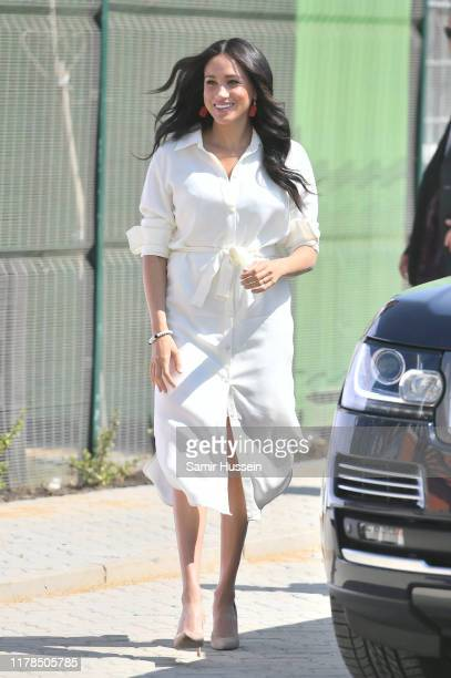 Meghan, Duchess of Sussex visits the township of Tembisa during the royal tour of South Africa on October 02, 2019 in Various Cities, South Africa.