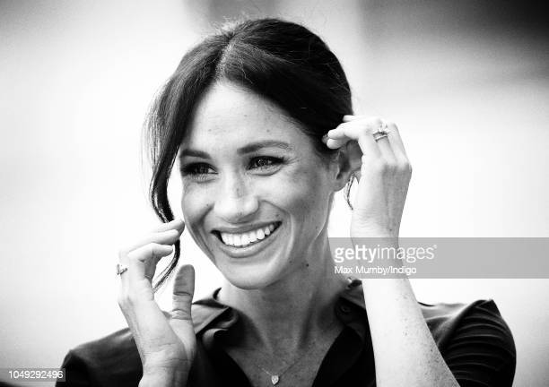 Meghan Duchess of Sussex visits the University of Chichester's Engineering and Technology Park on October 3 2018 in Bognor Regis England The Duke and...