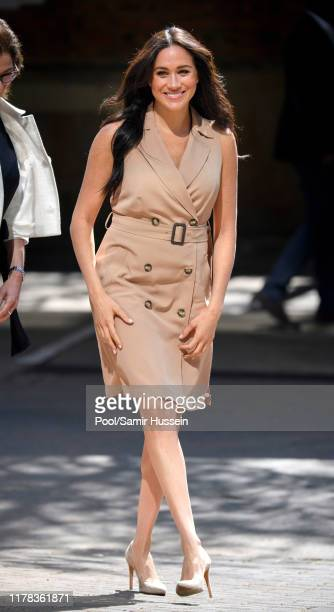 Meghan, Duchess of Sussex visits the University of Johannesburg on October 01, 2019 in Johannesburg, South Africa. This is part of the Duke and...