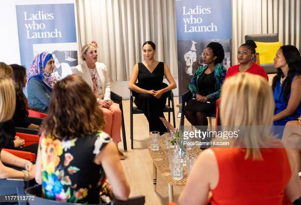 Meghan, Duchess of Sussex visits the Woodstock Exchange to meet female entrepreneurs working in technology, during the royal tour of South Africa on...